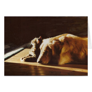 Golden Retriever Best Buddies Card