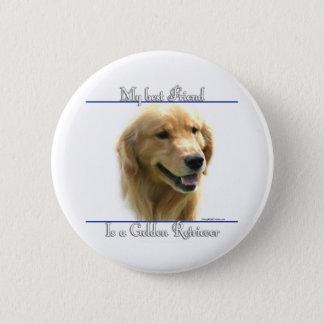 Golden Retriever Best Friend 2 - Button