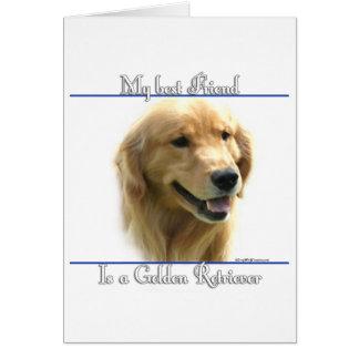 Golden Retriever Best Friend 2 Card