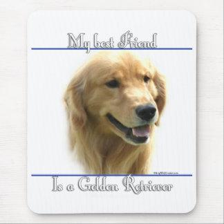 Golden Retriever Best Friend 2 Mouse Pad