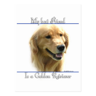 Golden Retriever Best Friend 2 Postcard
