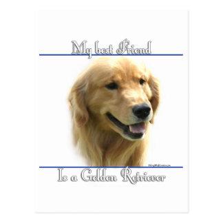 Golden Retriever Best Friend 2 Postcard