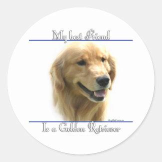 Golden Retriever Best Friend 2 - Sticker