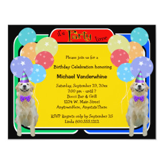 Golden Retriever Birthday Barker Card