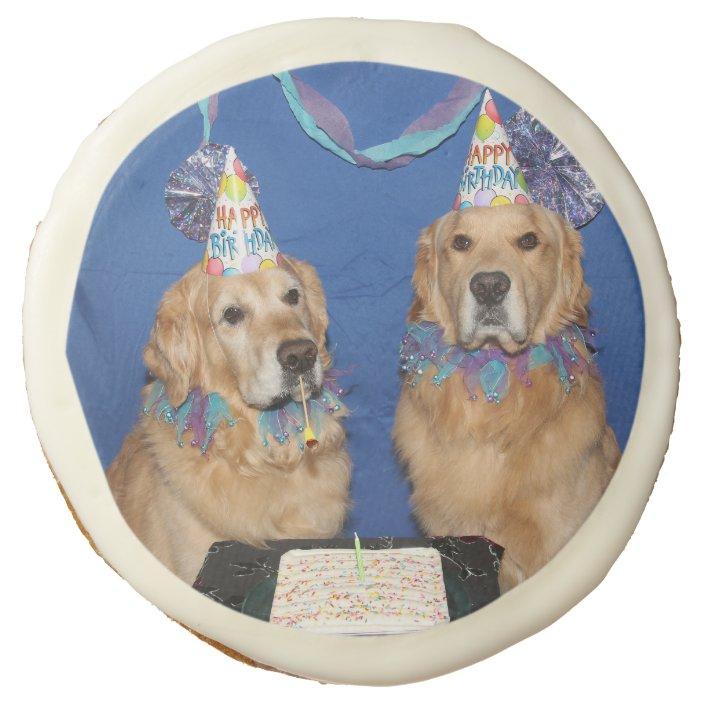 Fantastic Golden Retriever Birthday Cake Sugar Cookie Zazzle Com Funny Birthday Cards Online Alyptdamsfinfo