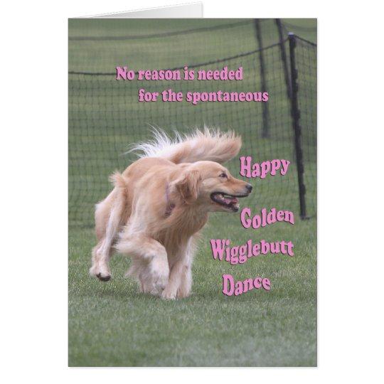 Golden Retriever Birthday Card 'Dance'