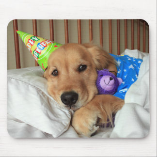 Golden Retriever Birthday Mouse Pad
