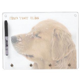 Golden Retriever Bliss Dry Erase Board