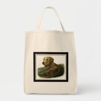 Golden retriever bolsa tela para la compra