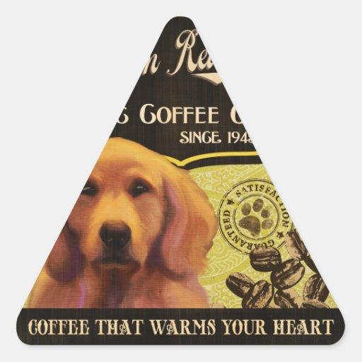 Golden Retriever Brand – Organic Coffee Company Triangle Sticker