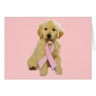 Golden Retriever Breast Cancer Greeting Card