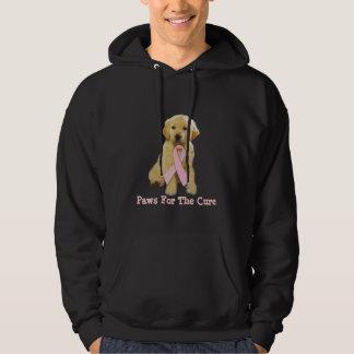 Golden Retriever Breast Cancer Hooded Sweatshirt