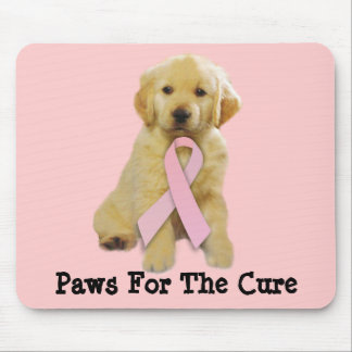 Golden Retriever Breast Cancer Mousepad