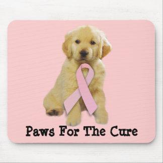 Golden Retriever Breast Cancer Mousepad