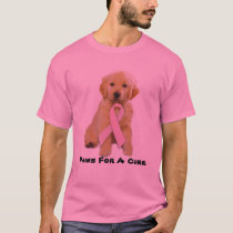 Golden Retriever Breast Cancer Unisex T-Shirt