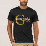 Golden Retriever Breed/Dog Lovers Initials Shirt