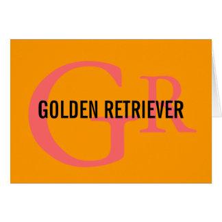 Golden Retriever Breed Monogram Design Greeting Card