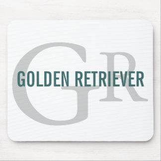 Golden Retriever Breed Monogram Design Mouse Pad