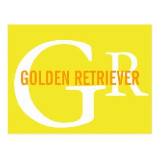 Golden Retriever Breed Monogram Design Post Cards