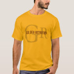 Golden Retriever Breed Monogram Design T-Shirt