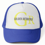 Golden Retriever Breed Monogram Design Trucker Hat