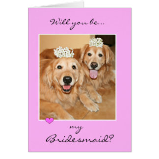 Golden Retriever Bridesmaid Cards