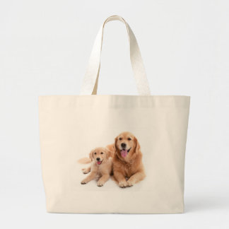 Golden Retriever Buddies Large Tote Bag