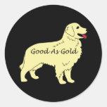 Golden retriever bueno como pegatina del oro