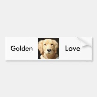 Golden Retriever Car Bumper Sticker