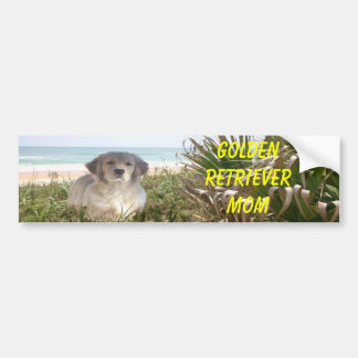 Golden Retriever Bumper Sticker Beachgrass Mom