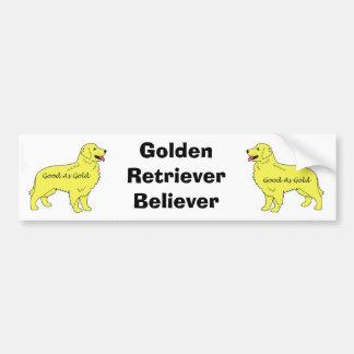 Golden Retriever Bumper Sticker Good As Gold