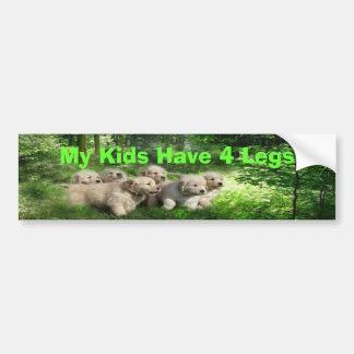 Golden Retriever Bumper Sticker My Kids Have 4Legs