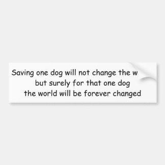 Golden Retriever Bumper Sticker, Save One Dog Car Bumper Sticker