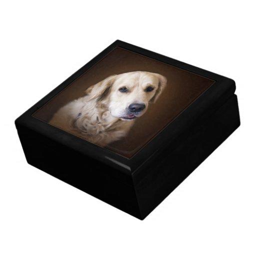 Golden retriever caja de recuerdo