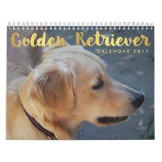 Golden Retriever Calendar 2017 Personalized Photos at Zazzle