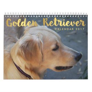 Golden Retriever Calendar 2017 Personalized Photos