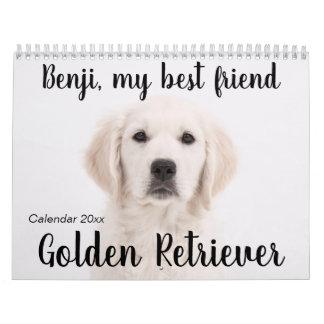 Golden Retriever Calendar 2019
