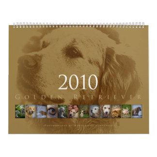 Golden retriever - calendario de pared 2010