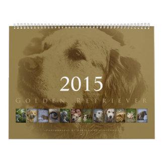 Golden retriever - calendario de pared 2015