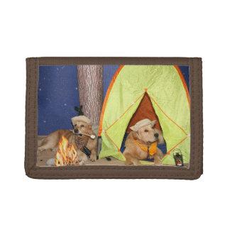 Golden Retriever Camping Tri-fold Wallet