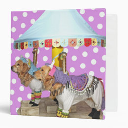 Golden Retriever Carousel 3 Ring Binder