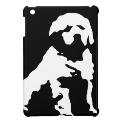 Case Savvy iPad Mini Glossy Finish Case with Golden Retriever Phone Cases design