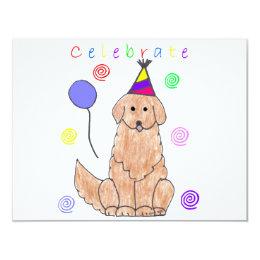 Golden Retriever Celebrate Card