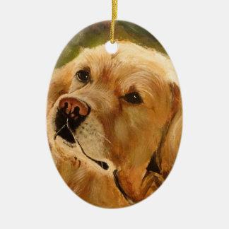 Golden Retriever Ceramic Ornament