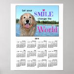 Golden Retriever Change the World 2014 Calendar Posters