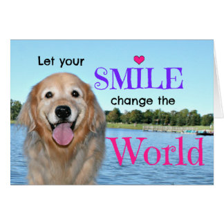 Golden Retriever Change the World Greeting Card