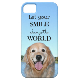 Golden Retriever Change the World iPhone SE/5/5s Case