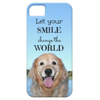 Golden Retriever Change the World iPhone SE/5/5s Case