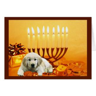 Golden Retriever  Chanukah Card Menorah3