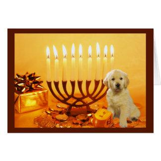 Golden Retriever  Chanukah Card Menorah5